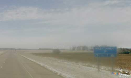 sd interstate 29 south-dakota i29 new effington rest area mile marker 250 southbound off ramp exit