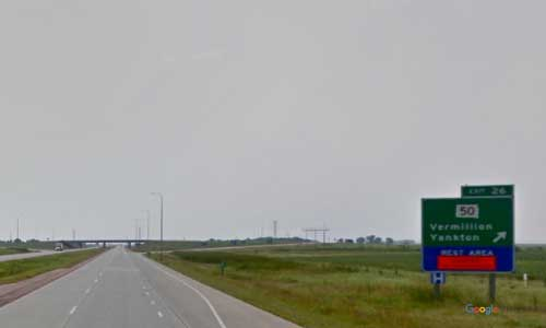 sd interstate 29 south dakota i29 vermillion welcome center rest area mile marker 26 southbound off ramp exit