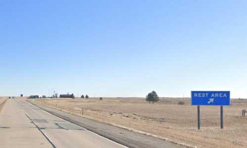 sd interstate 90 south dakota i90 belvidere rest area marker 165 eastbound off ramp exit