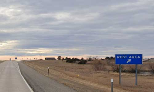 sd interstate 90 south dakota i90 belvidere rest area marker 166 westbound off ramp exit