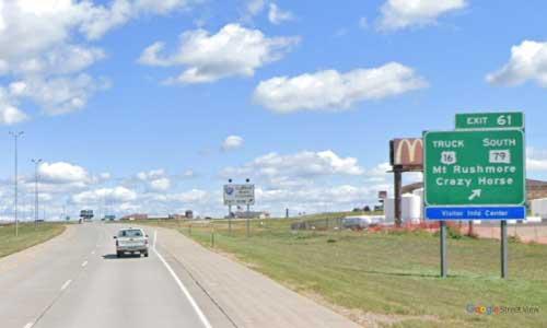 sd interstate 90 south dakota i90 black hills welcome center mile marker 61 eastbound off ramp exit