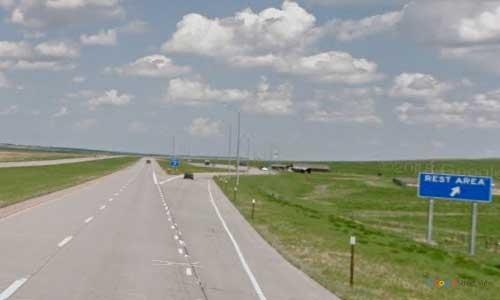 sd interstate 90 south dakota i90 vivian rest area marker 218 eastbound off ramp exit